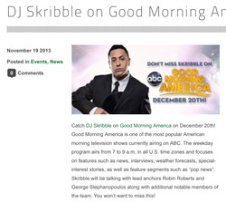 DJ Skribble on Good Morning America