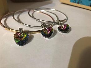 bangle heart bracelet