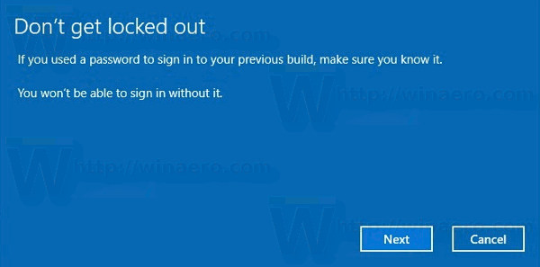 Uninstall-Windows-10-Creators-Update-password