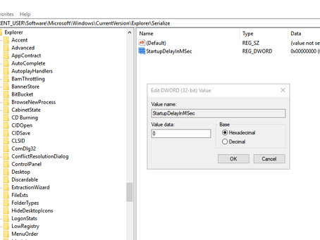 Enable or Disable Startup Delay in Windows 10