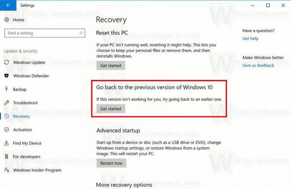 Uninstall-Windows-10-Creators-Update
