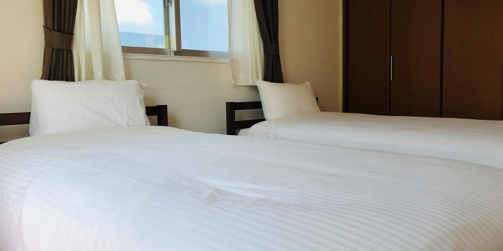宮古島ゲストハウスシトラス 寝室3:シングル2台