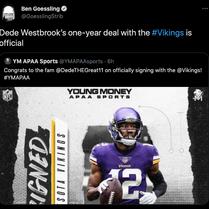 Minnesota Vikings add wide receiver Dede Westbrook prior to training camp