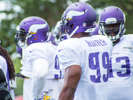 Danielle Hunter at OTAs after signing contract extension with Vikings