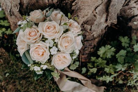 Bridal bouquet, soft pink roses, vintage roses, vintage bouquet, hand tied bouquet
