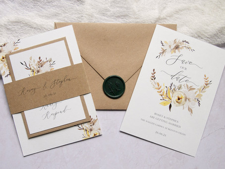 Sustainable Wedding Stationery - both beautiful and kind to the environment