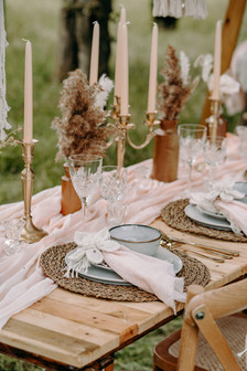 Boho luxe table setting