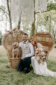 Bride and Groom in Woodland setting