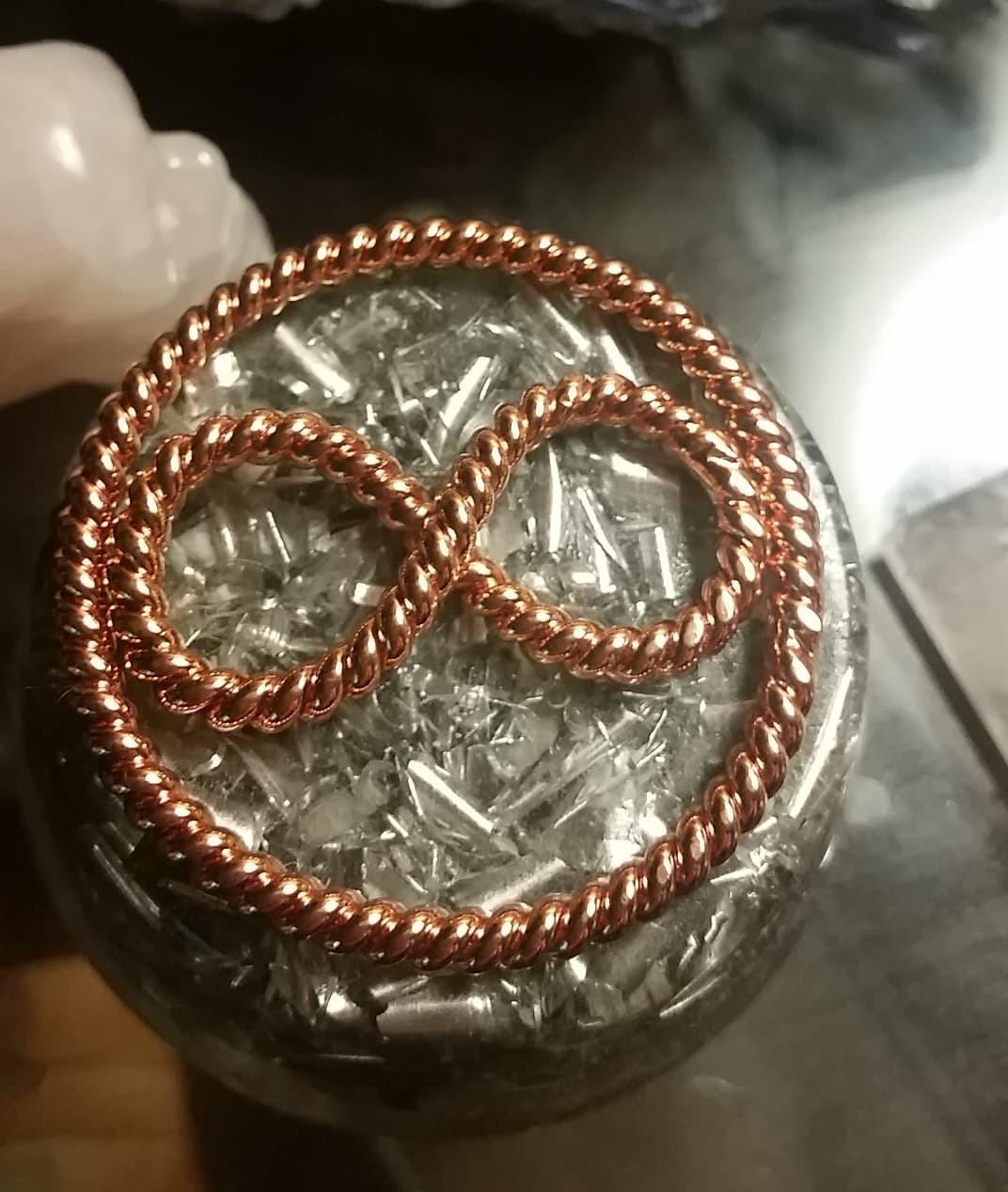 Quantum Merkaba-Infinity Tensor Ring Pendant
