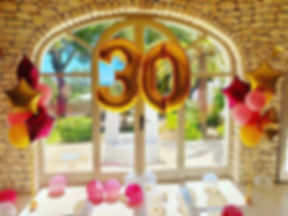 The big 30! Pink and gold star bunches a