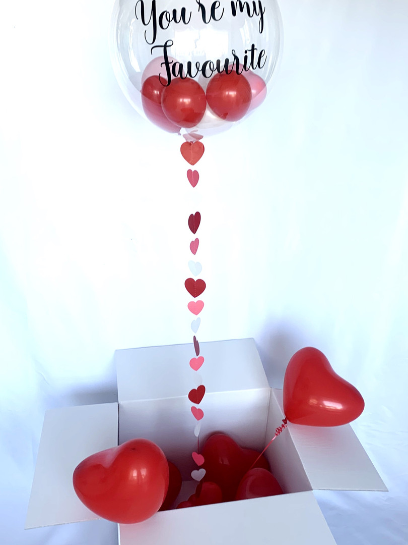 Personalised Bubble Balloon in Surprise box