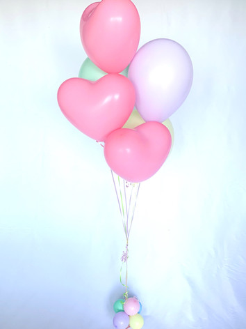 6 pastel hearts / round mix