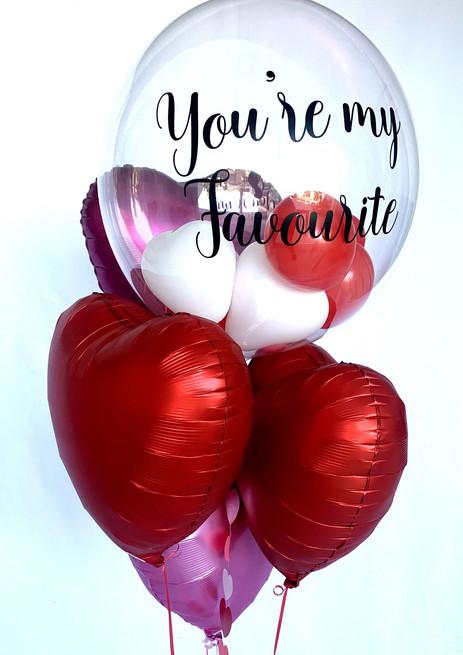 Valentines day bubble bouquet