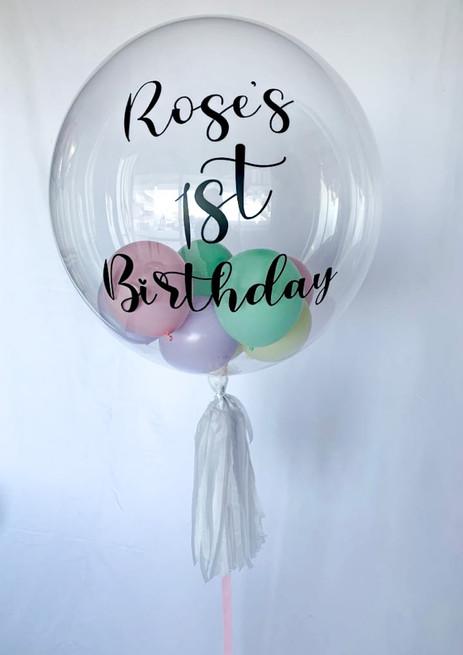Pastel small balloon bubble