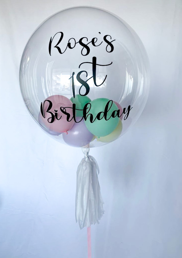 Pastel small balloon bubble
