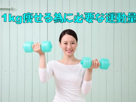 【1kg痩せる為に必要な運動量】