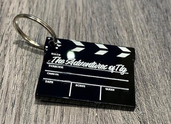 Hollywood Clapper Board Name Tag