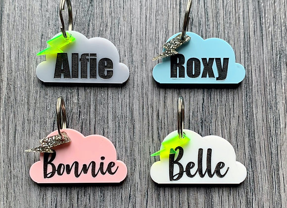 Cloud Name/ID Tag (with Lightning charm)