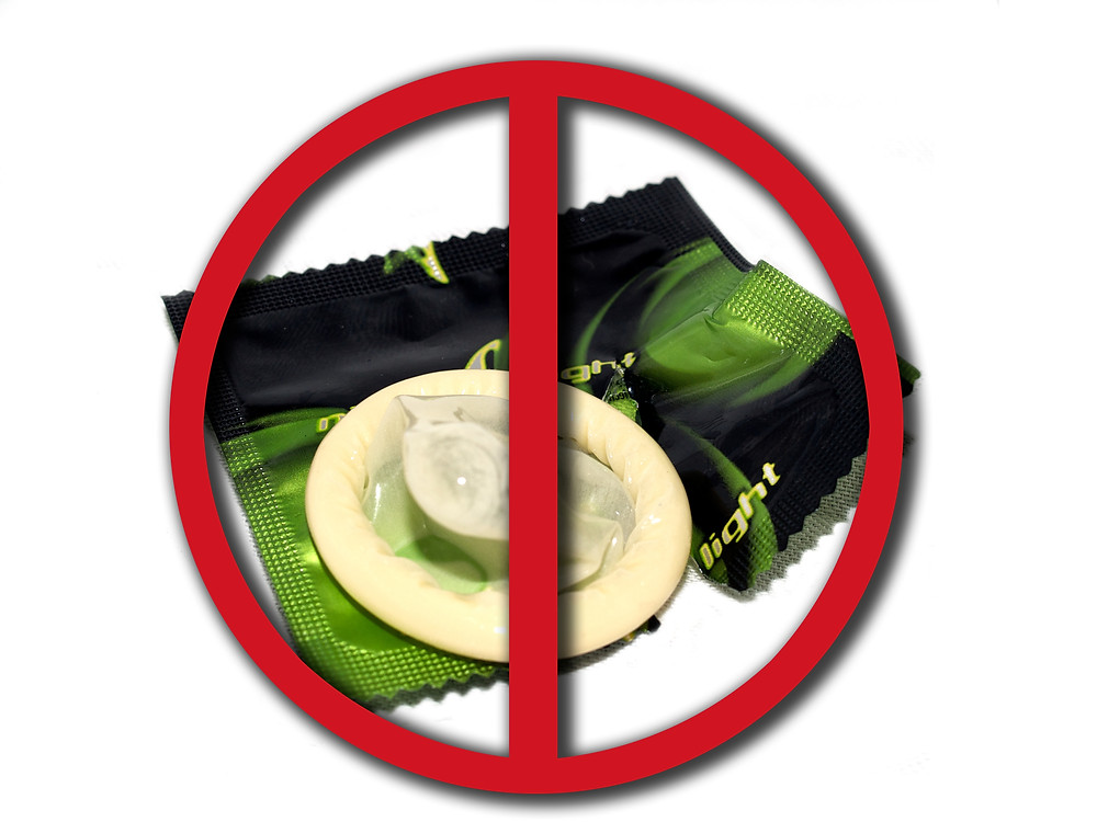 anti-condom sign
