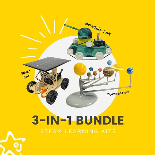 STEAM Learning Kits: 3-in-1 Bundle