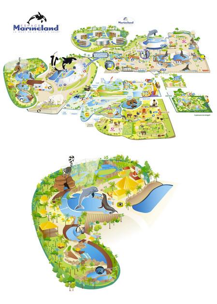 Plan du parc Marineland