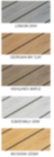 Examples of PVC Deck Colours