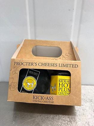 Kick Ass Gift Pack Mature Cheddar/Plum Chutney