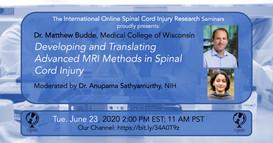 Dr. Matthew Budde - Developing And Translating Advanced MRRI Methods In Spinal Cord Injury