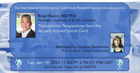 Dr. Brian Kwon - Translational Perspectives from the Acutely Injured Spinal Cord