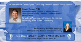 Dr. Steven Crone - Targeting Propriospinal Circuits to Improve Breathing After Spinal Cord Injury