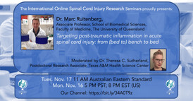 Dr. Marc Ruitenberg - Targeting post-traumatic inflammation in acute spinal cord injury: from (bed to) bench to bed