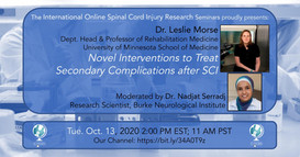 Dr. Leslie Morse - Novel Interventions to Treat Secondary Complications after SCI