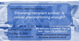 Dr. Caitlin Hill - Enhancing transplant survival: Is cellular preconditioning enough?