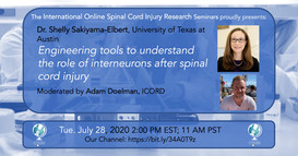 Dr. Shelly Sakiyama-Elbert - Engineering Tools To Understand The Role Of Interneurons After Spinal Cord Injury