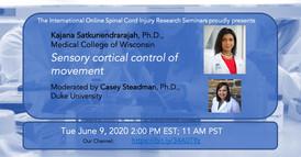 Dr. Kajana Satkunendrarajah - Sensory Cortical Control Of Movement