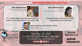 Dr. Bart Nieuwenhuis- PI 3-kinase enhances axonal PIP3 to support axon regeneration in the adult CNS; Dr. Adina Micheal-Titus - Neuroprotection with bioactive lipids-opportunities and challenges.