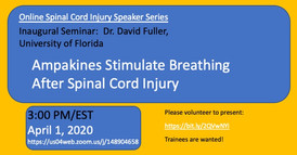 Dr. David Fuller - Ampakines Stimulate Breating After Spinal Cord Injury