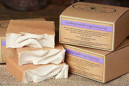 Blue Haven Soothing Lavender Sage Honey Soap