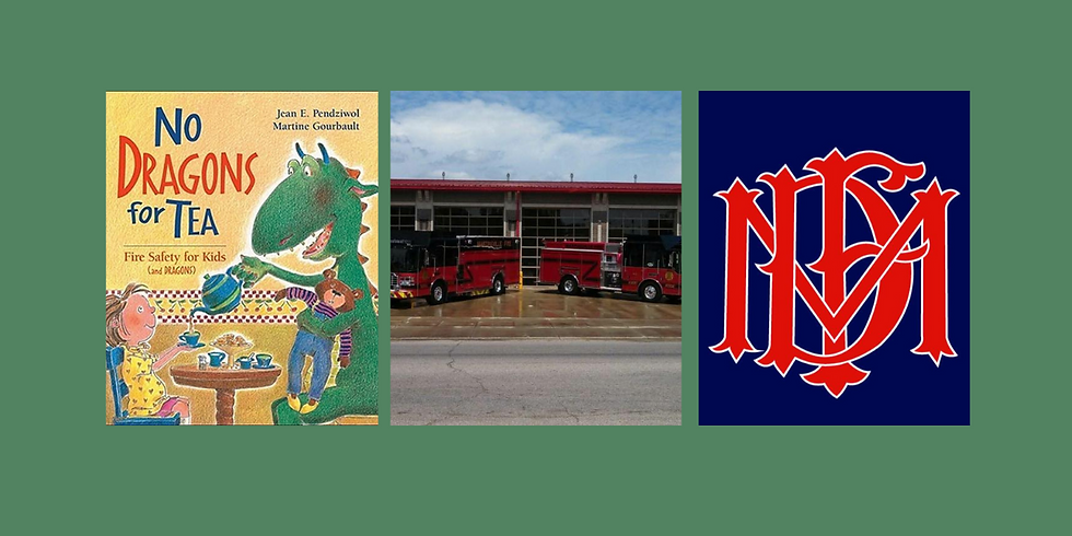 Fire Safety Story Time -No Dragons for Tea with special guest Martinsville Fire Department