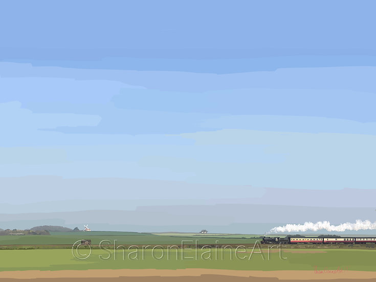 """Weybourne """"here comes the train"""""""