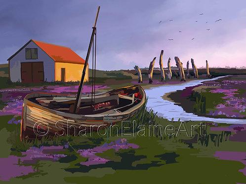 """Salthouse """"sea lavender et al"""""""