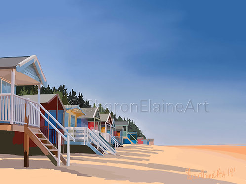 """Wells-next-the-sea """"beach huts of course"""""""