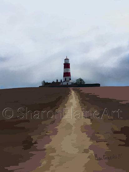"Happisburgh Lighthouse ""moody skies"""