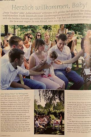 Willkommensfeier - Regina Schützenhofer - Rednerin - Presse - TIPI Familienmagazin