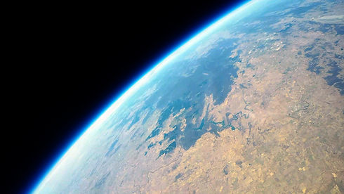 High-altitude balloon imagery of Australia