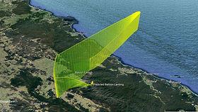 High-altitude balloon flight path