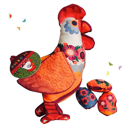 Kura (Hen) Chicken Plush with Eggs