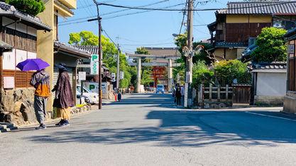 【下河原通】八坂神社は南門が正門。南楼門 石鳥居が目印!