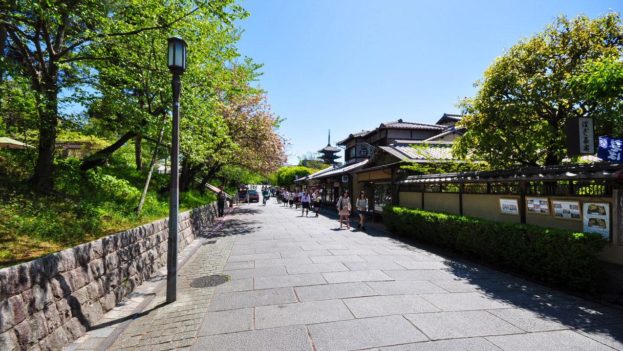 【ねねの道】東山エリアの風情を味わえます。