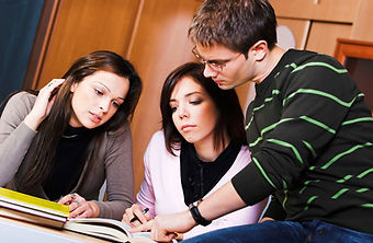 Students studying together